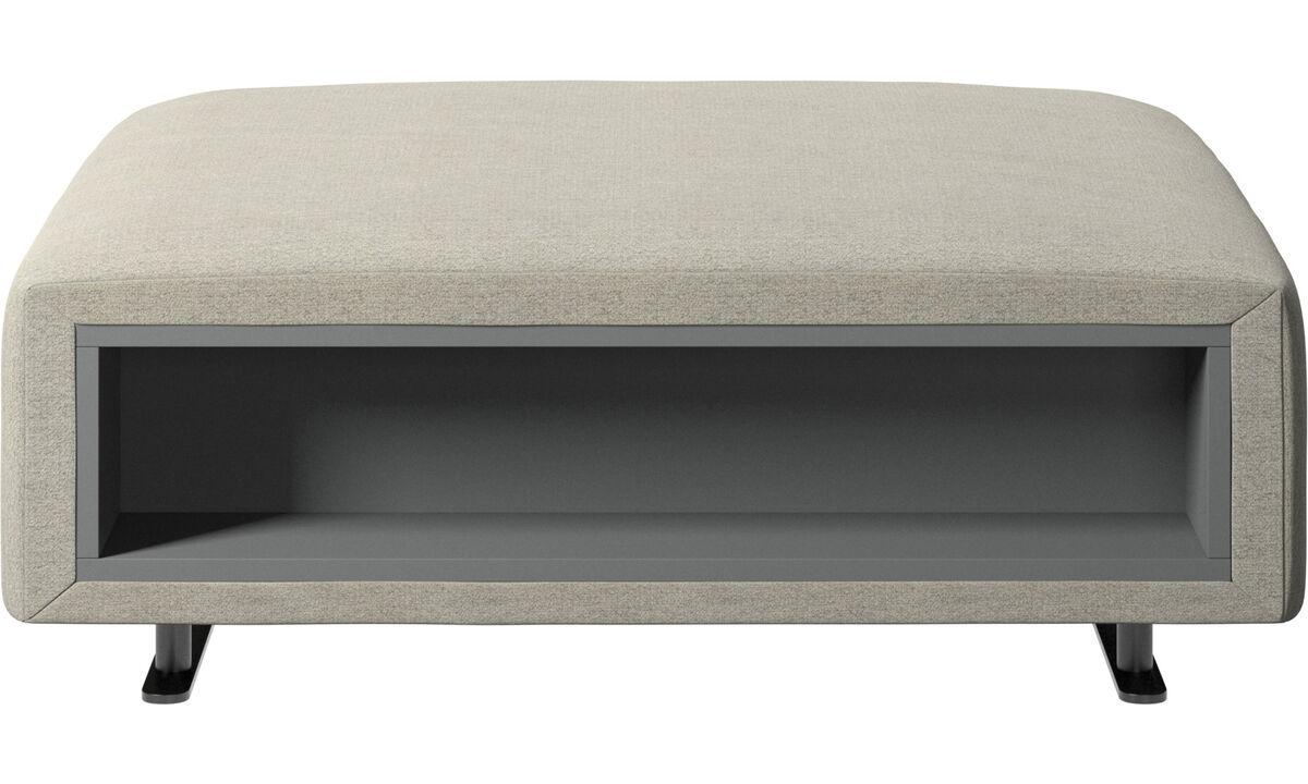 Пуфики - Пуф Hampton с системой хранения, левая и правая стороны - Бежевого цвета - Tкань