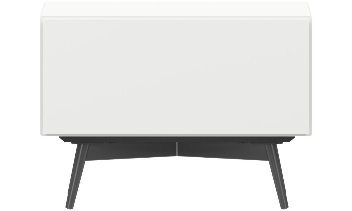 Night stands - Lugano night stand - square - White - Lacquered