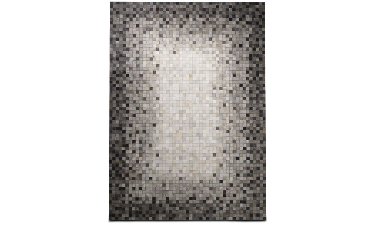 Leather rugs - Random rug - rectangular - Gray - Leather