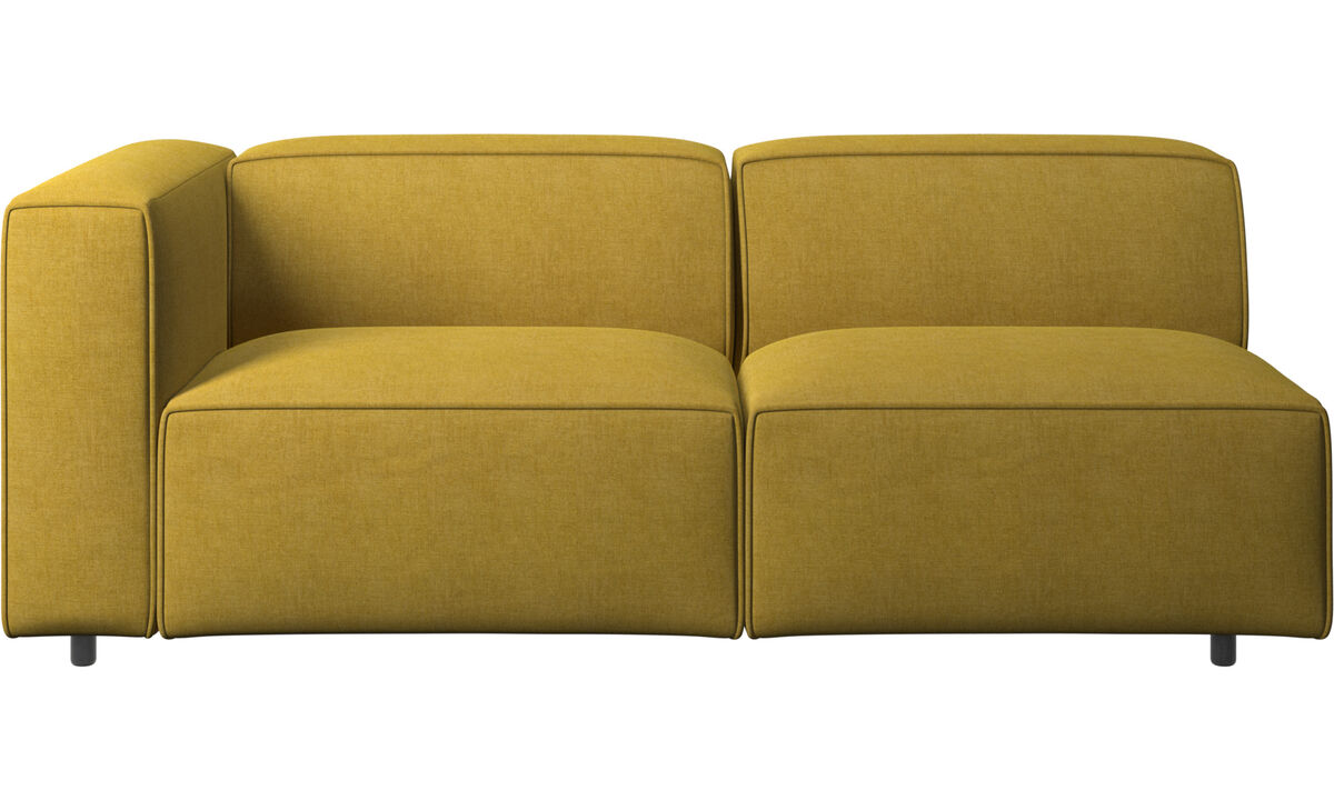 Sofás de 2 plazas y media - sofá Carmo - En amarillo - Tela