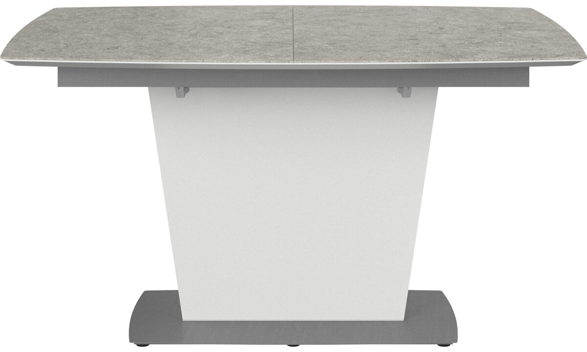 Dining tables - Milano table with supplementary tabletop - rectangular - Gray - Ceramic