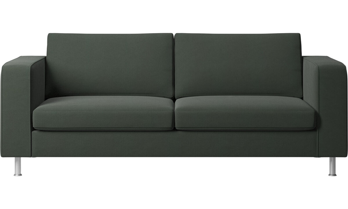 2.5 seater sofas - Indivi sofa - Green - Fabric