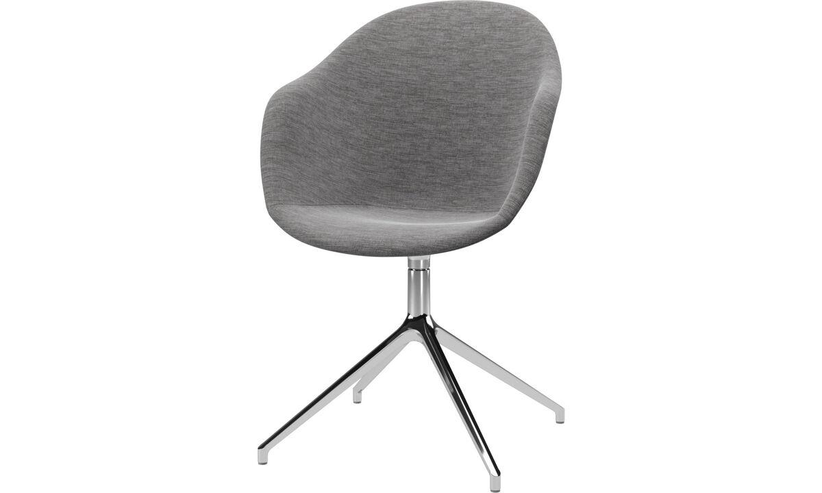 Spisestole - Adelaide stol med drejefunktion - Grå - Stof