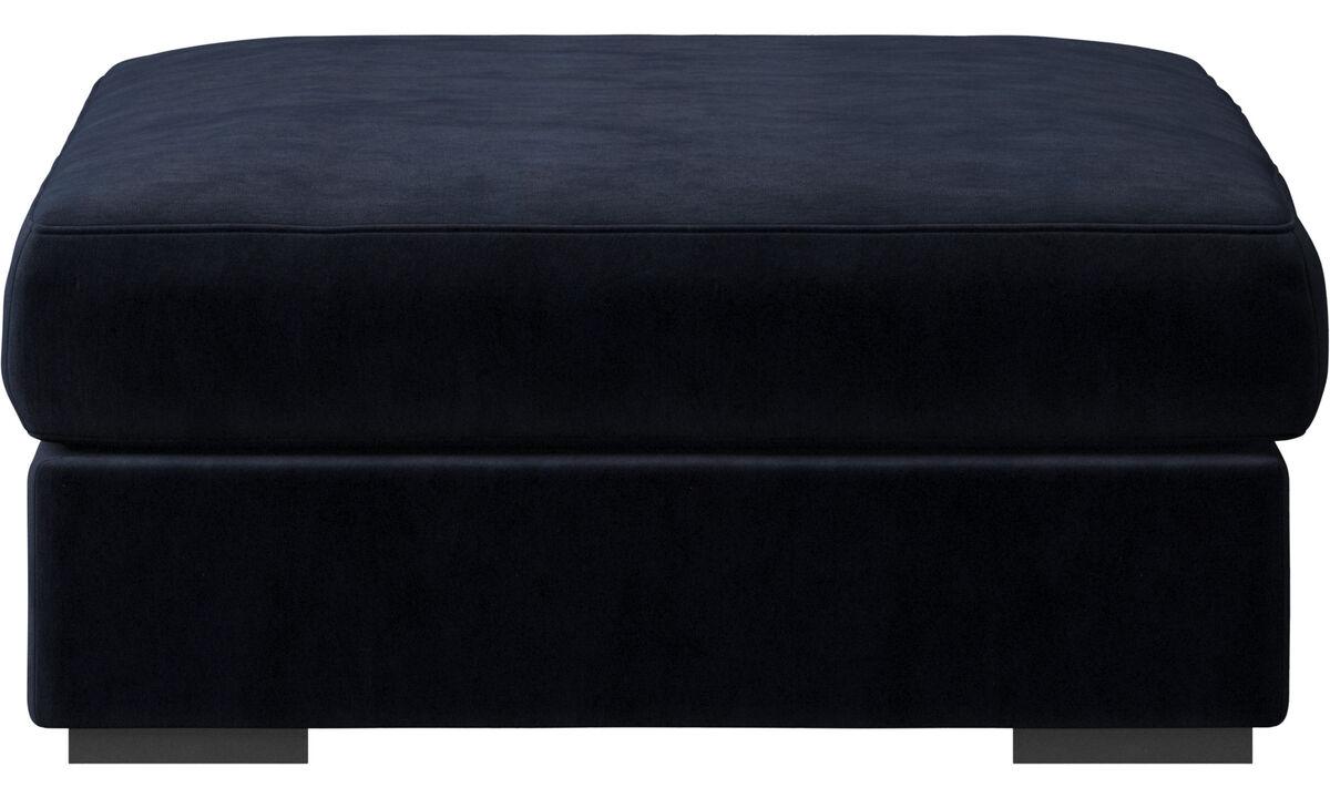 Nuevos diseños - puf Cenova - En azul - Tela