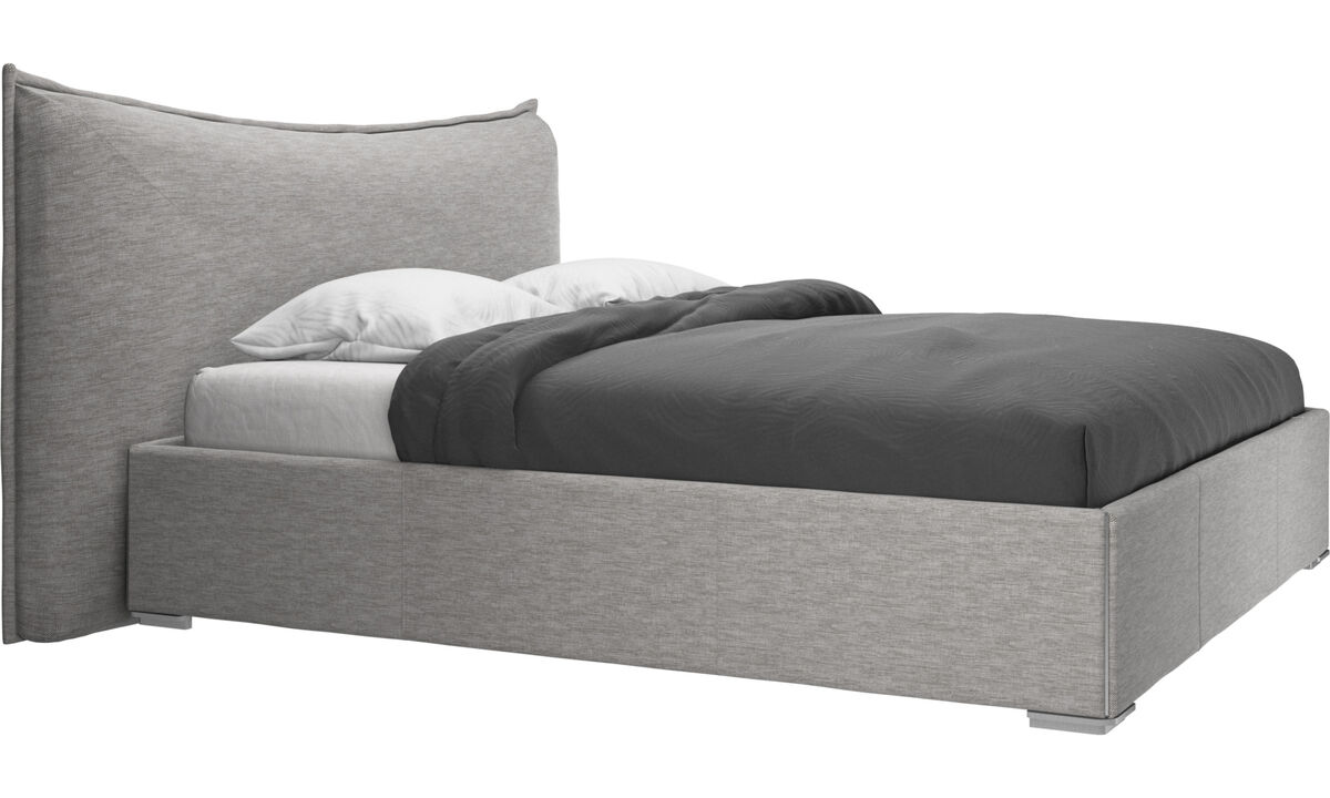 Beds - Gent bed, excl. mattress - Grey - Fabric