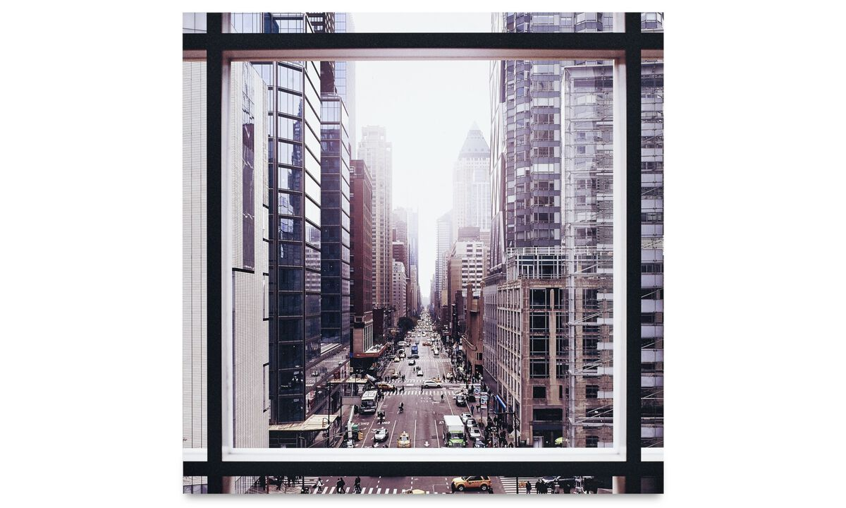 New designs - City metal print, Manhattan the street - Metal