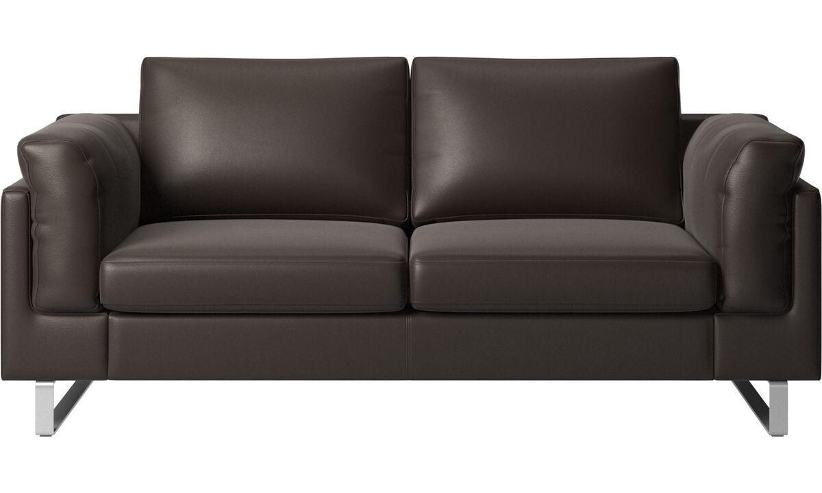 2 θέσιοι καναπέδες - Καναπές Indivi 2 - Καφέ - Δέρμα