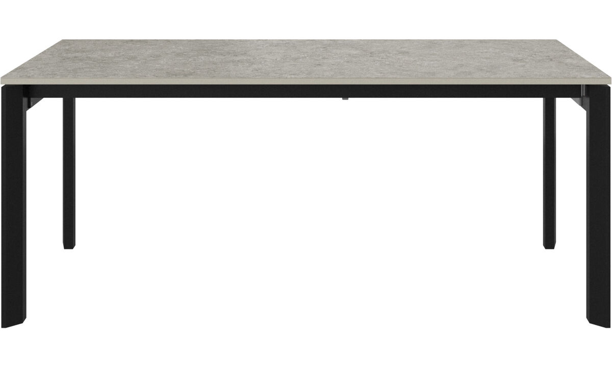 Mesas de comedor - mesa con tablero extensible Lyon - rectangular - En gris - Cerámica