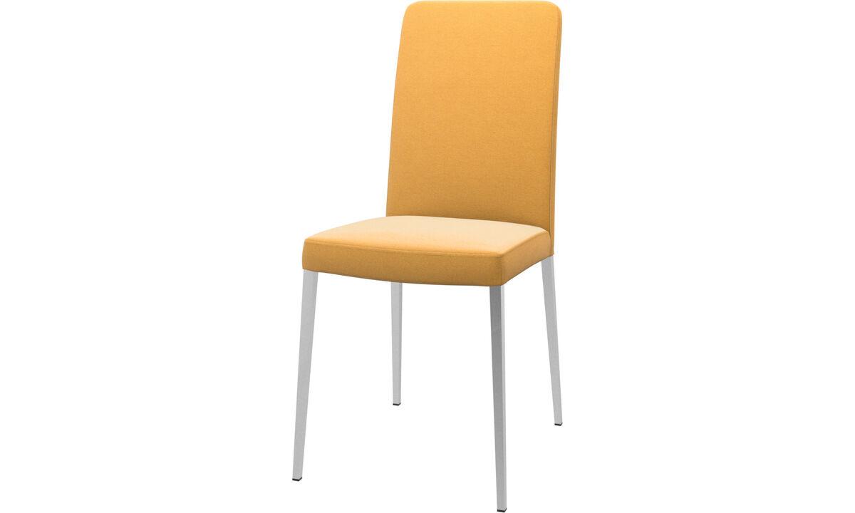 Sillas de comedor - Silla Nico - En amarillo - Tela