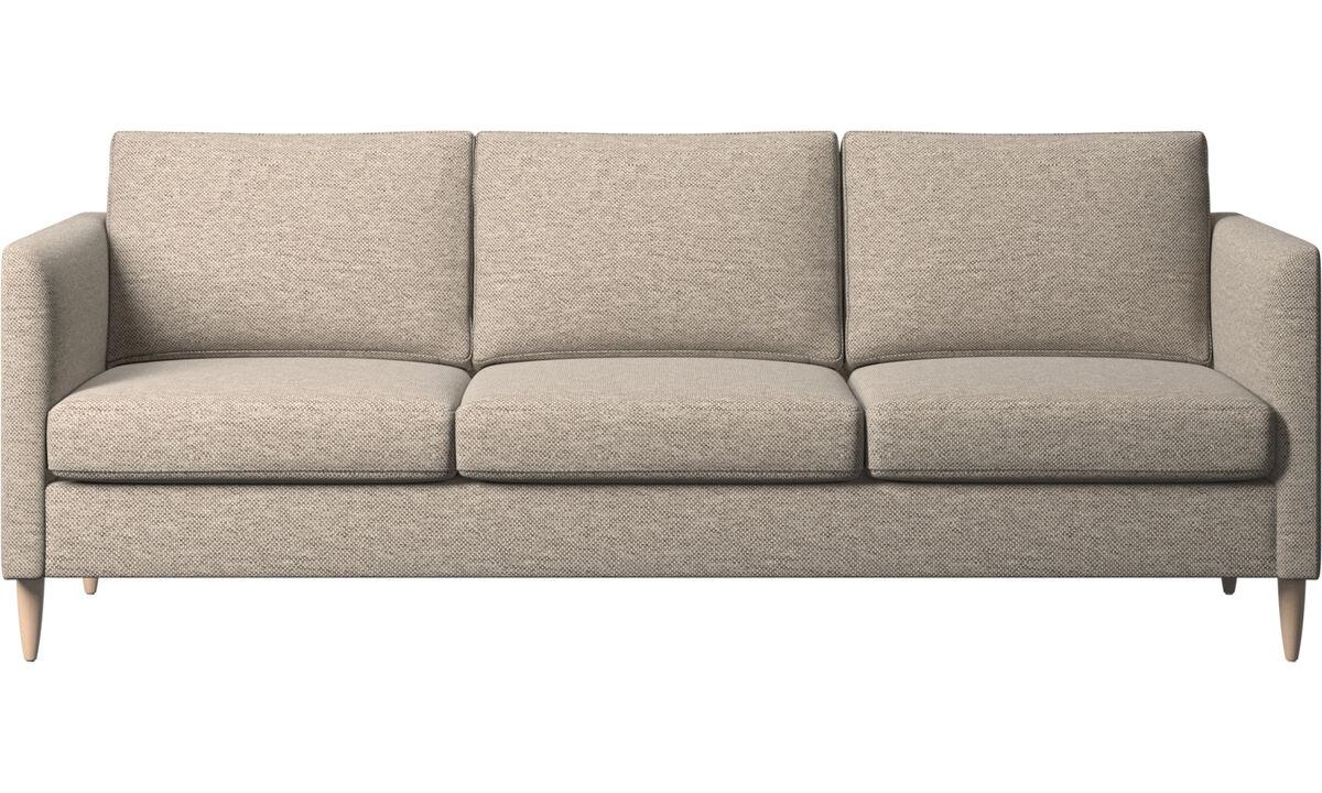 Sofás de 3 plazas - sofá Indivi - En beige - Tela