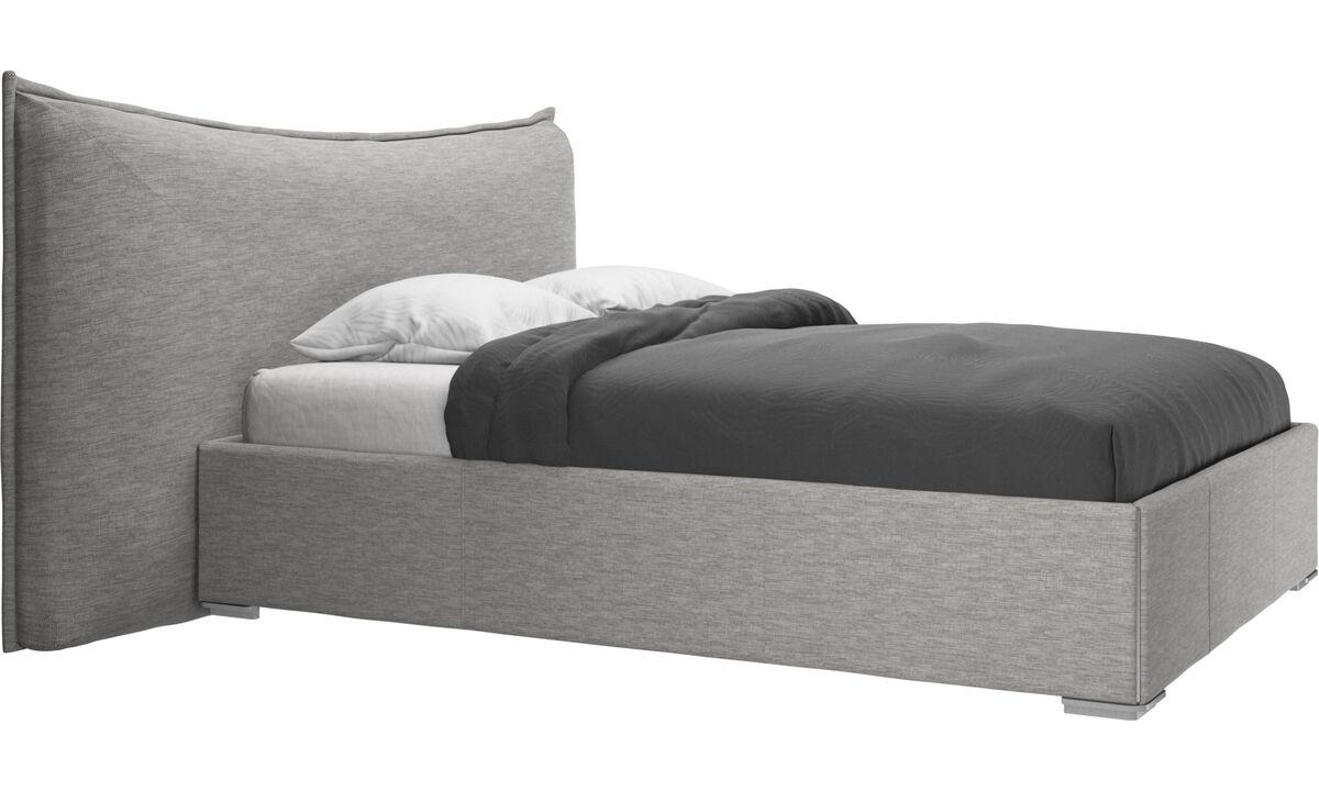Betten - Gent Bett, Lattenrost und Matratze gegen Aufpreis - Grau - Stoff