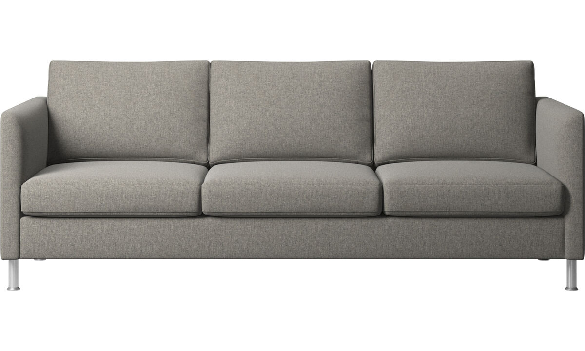 3 seater sofas - Indivi divano - Nero - Fabric