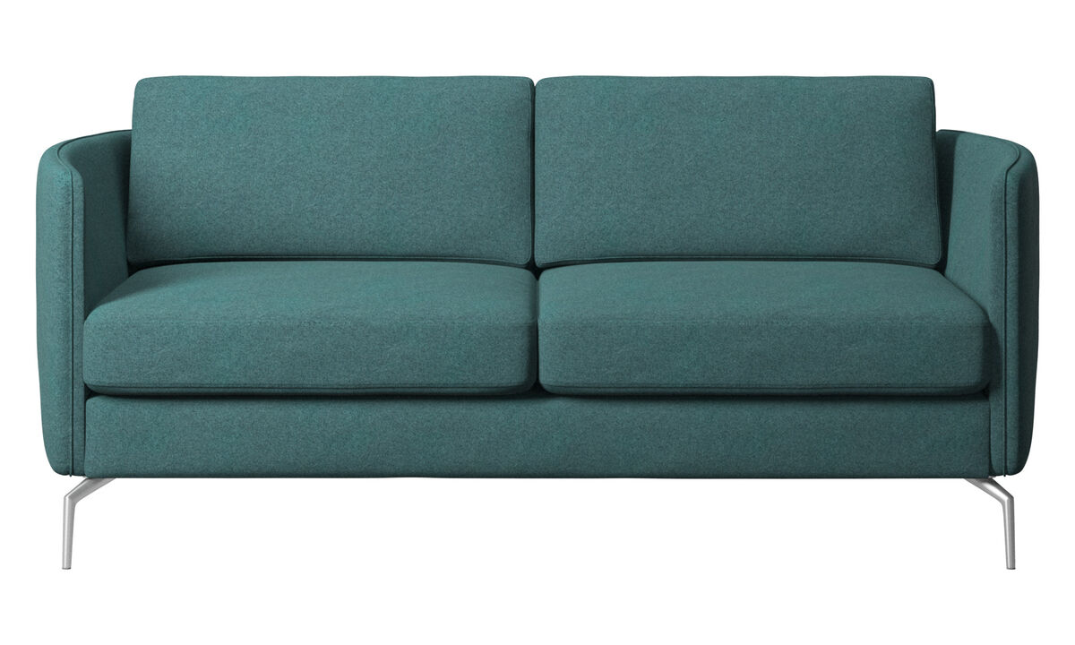 2 seater sofas - Osaka sofa, regular seat - Green - Fabric