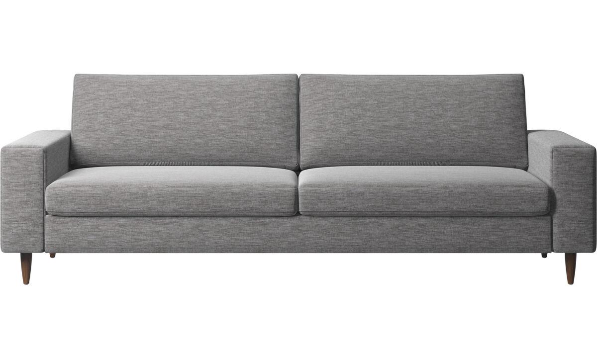 Sofás de 3 plazas - Sofá Indivi - En gris - Tela