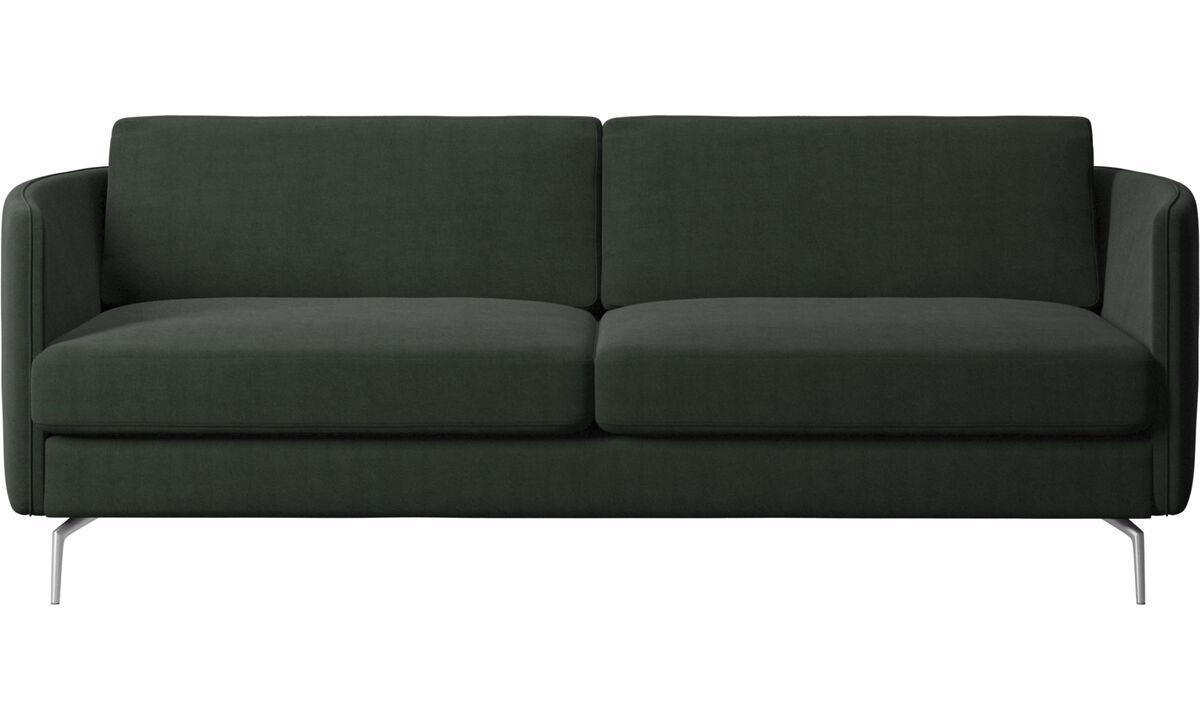 Sofás de 2 plazas y media - sofá Osaka, asiento regular - En verde - Tela
