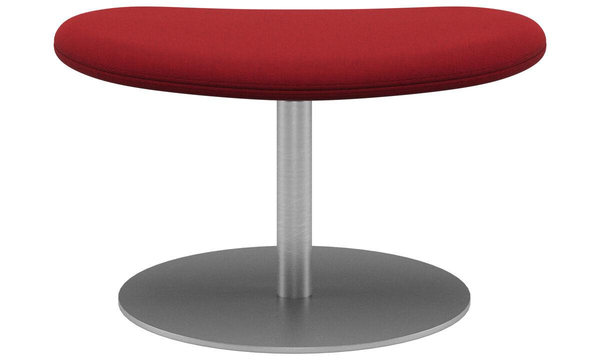 Footstools - Ogi footstool - Red - Fabric