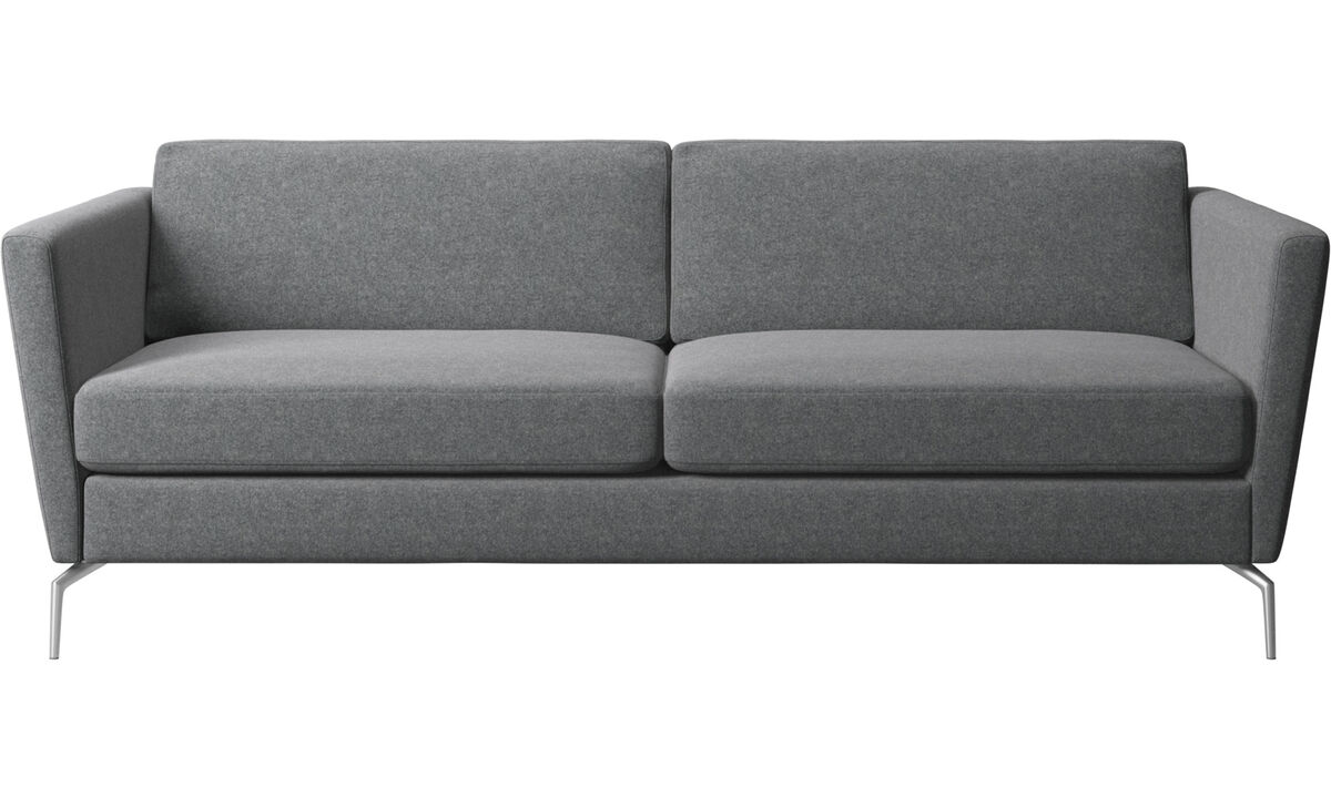 2.5 seater sofas - Osaka sofa, regular seat - Gray - Fabric
