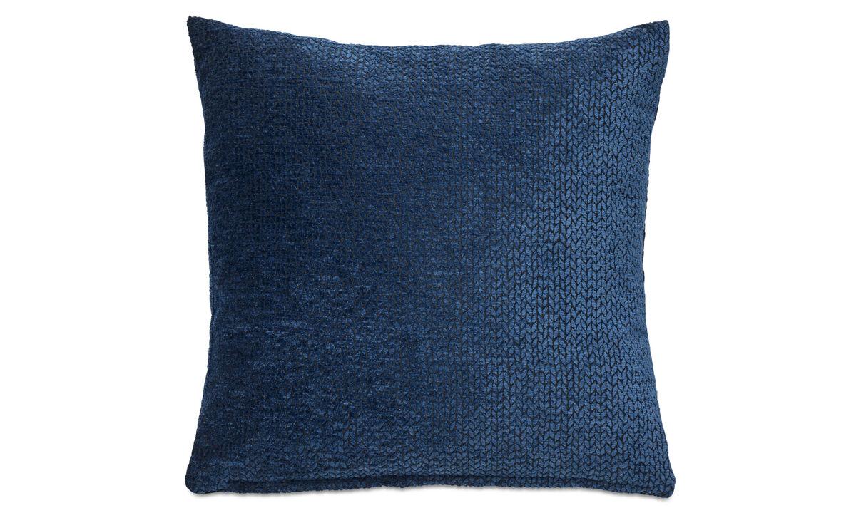 Mønstrede puter - Chain pute - Blå - Tekstil