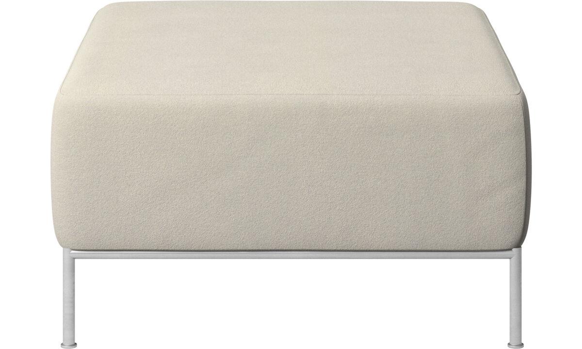 Modular sofas - Miami footstool - White - Fabric