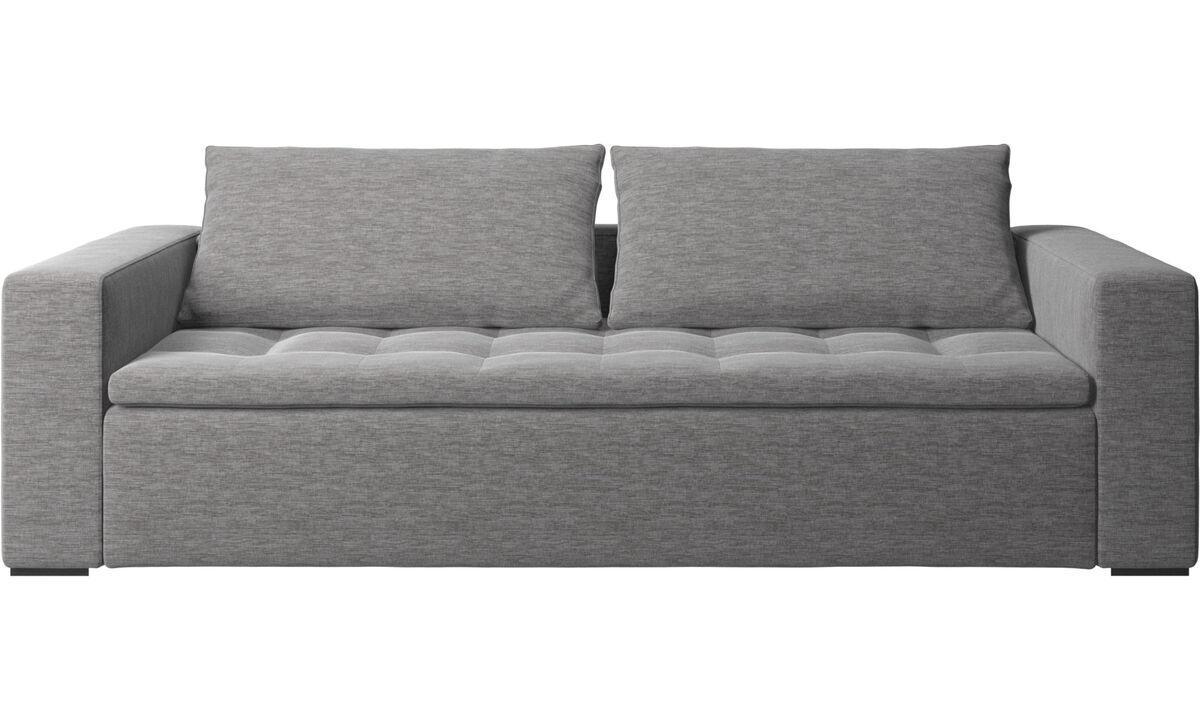 3 seater sofas - Mezzo sofa - Gray - Fabric