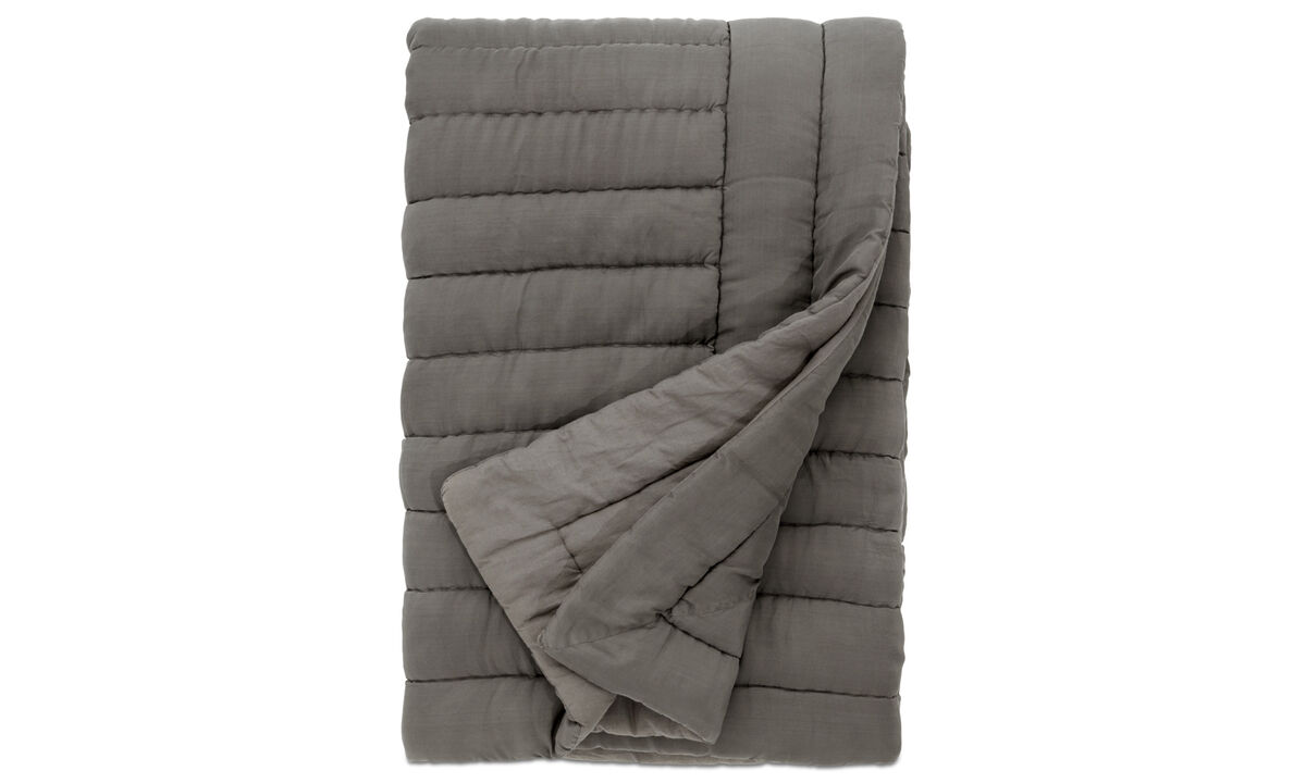 Throws & bedspreads - Indulge bedspread - Grey - Fabric