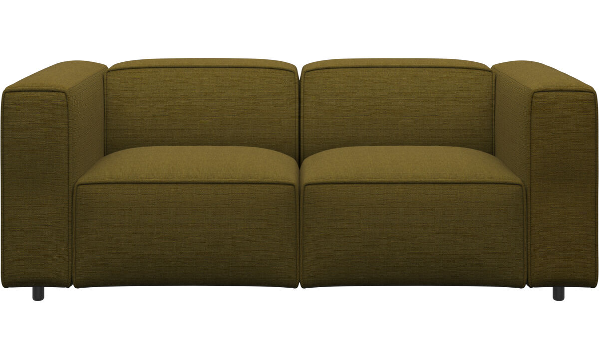 2 personers sofaer - Carmo sofa - Gul - Stof