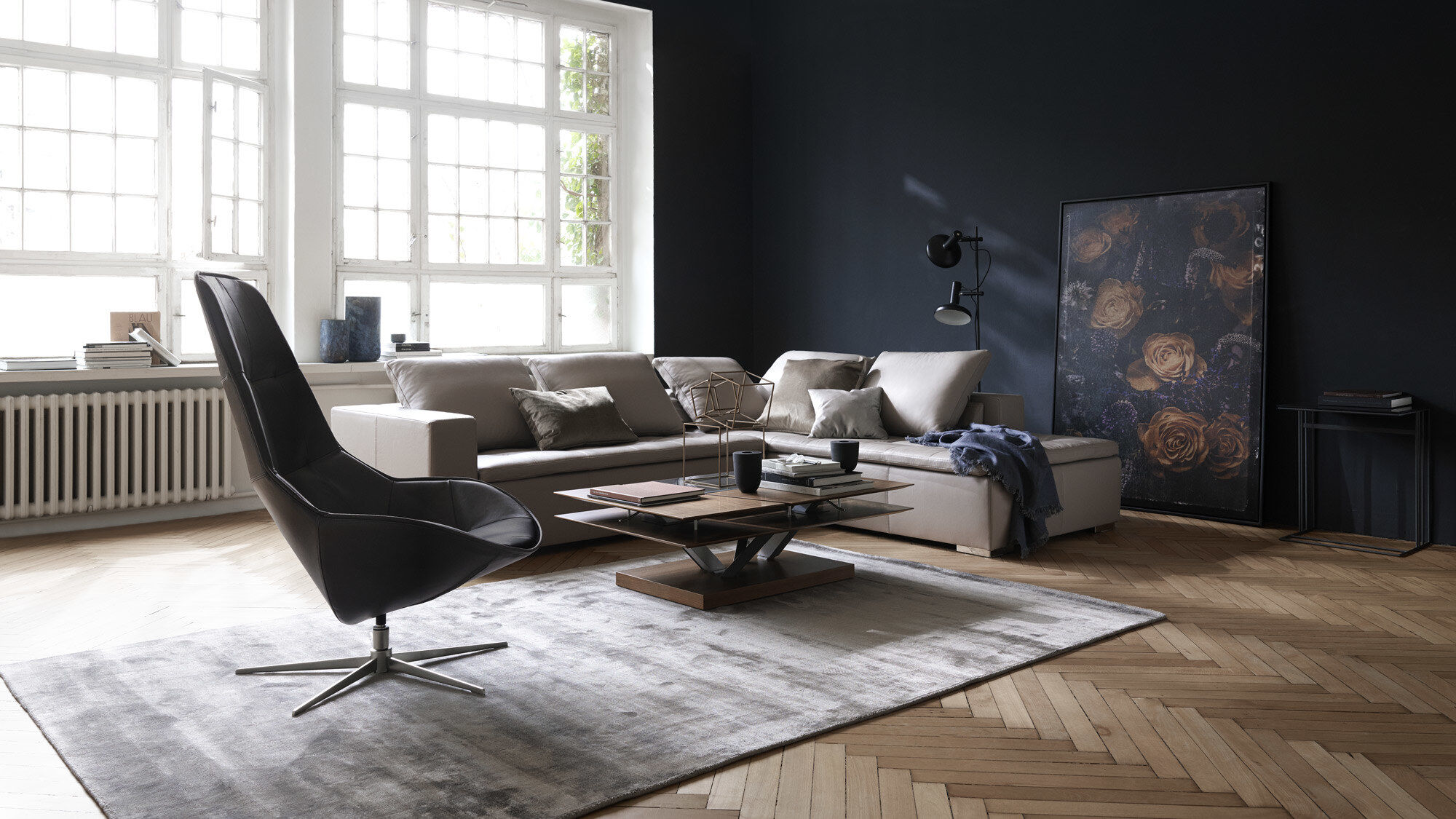 Corner sofas - Mezzo corner sofa with lounging unit