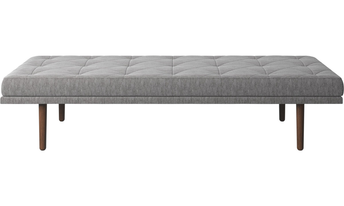 Divanes - Sofá-cama fusion - En gris - Tela