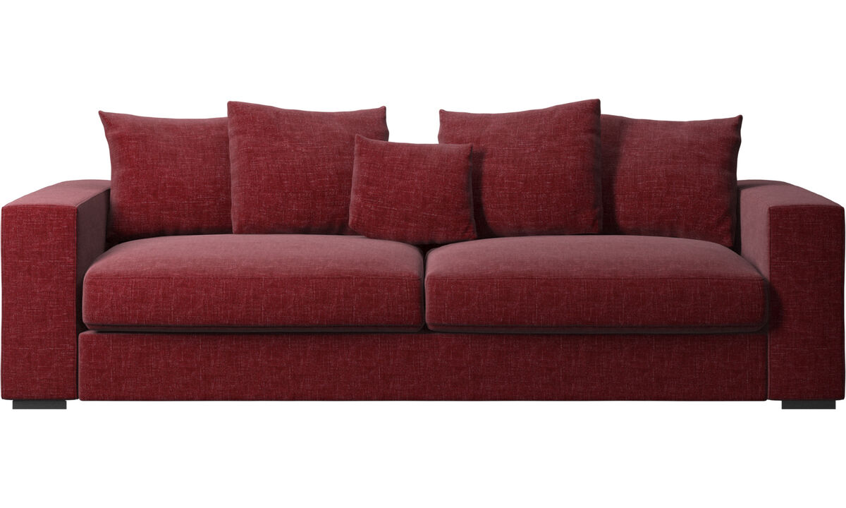 3 seater sofas - Cenova sofa - Red - Fabric
