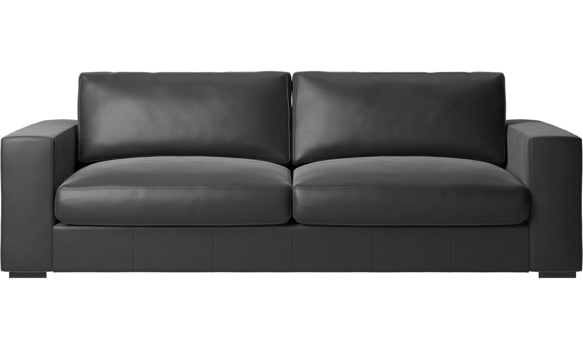 3 seater sofas - Cenova sofa - Black - Leather