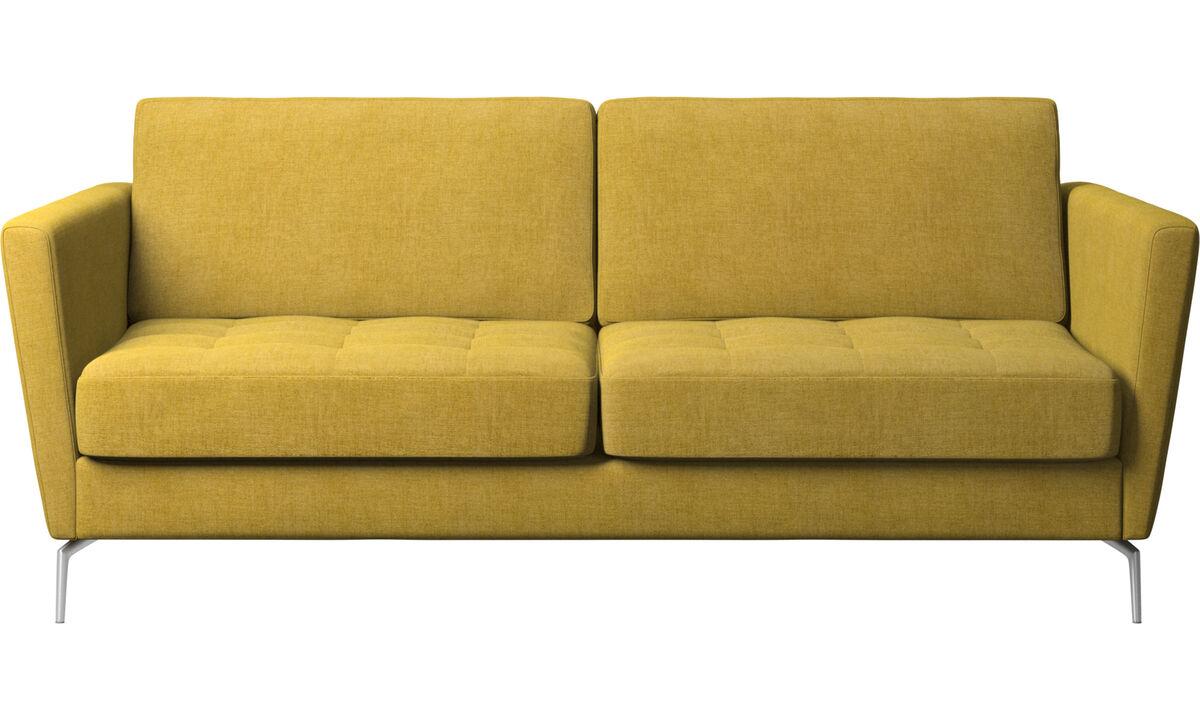 Sofá cama - sofá-cama Osaka, assento tufado - Amarelo - Tecido