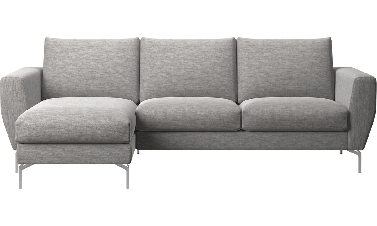 Sofas - Nice sofa with resting unit - Grey - Fabric