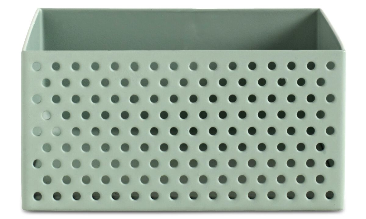 Small storage - Spotty storage box - Green - Metal