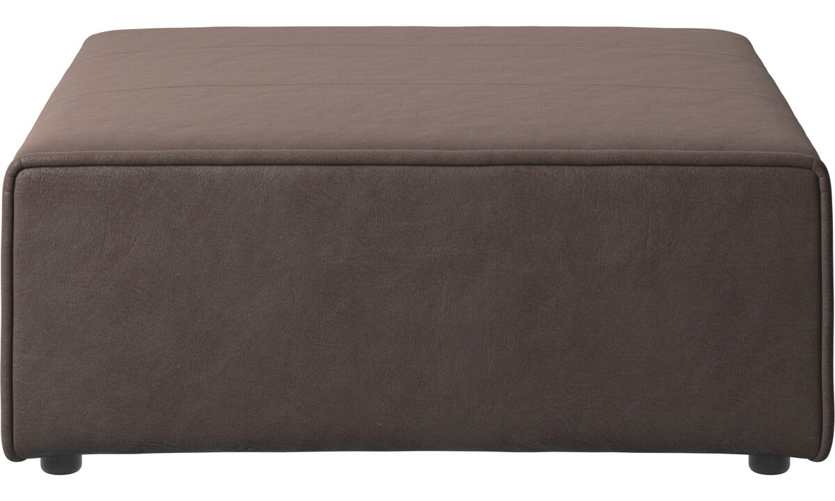 Footstools - Carmo ottoman - Brown - Leather