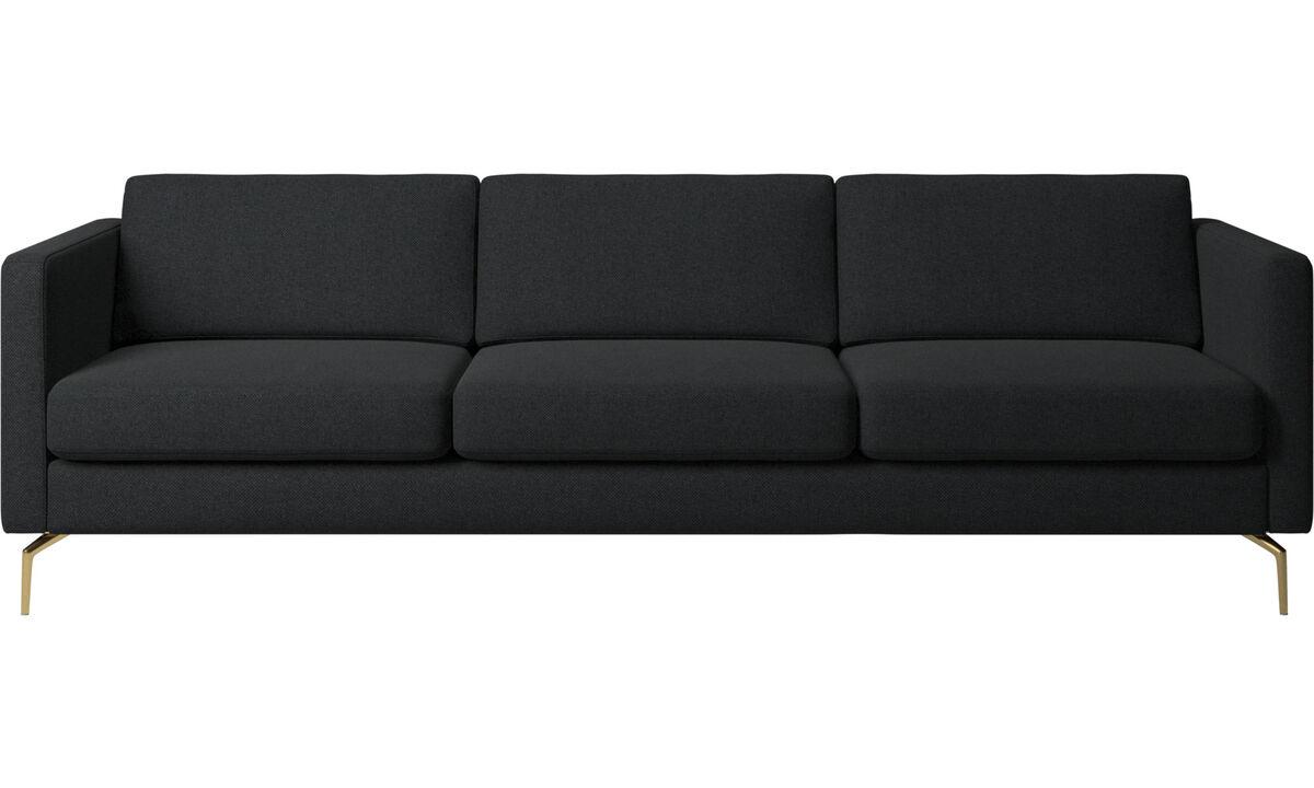 3 seater sofas - Osaka sofa, regular seat - Grey - Fabric