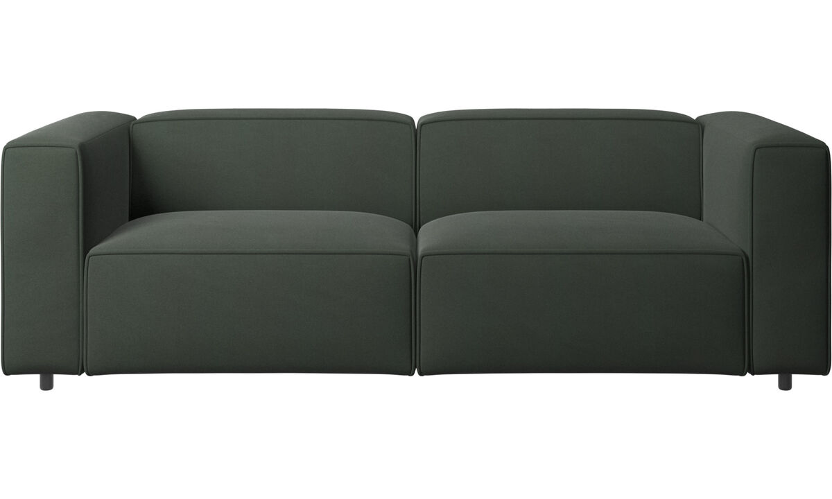 Sofás reclinables - Sofá Carmo con movimiento - En verde - Tela