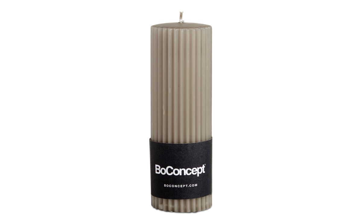 Dinnerware - Ro grooved pillar candle - Brown - Paraffin