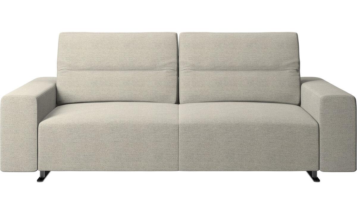 2,5-местные диваны - Диван Hampton с регулируемой спинкой - Бежевого цвета - Tкань