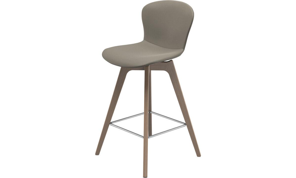 Bar stools - sgabello Adelaide - Grigio - Pelle
