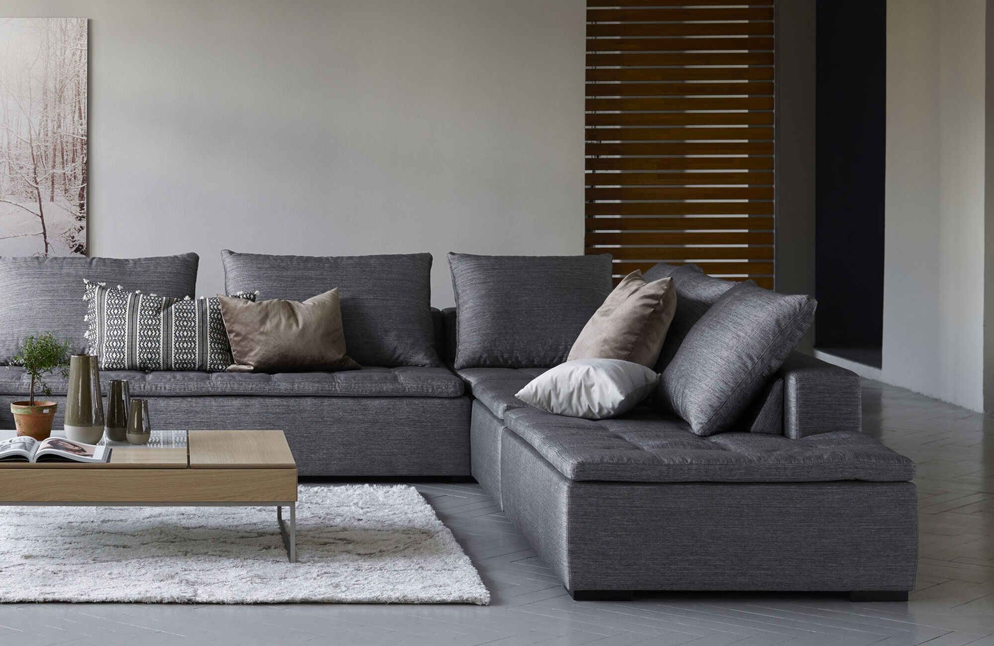 Chaise longue sofas - Mezzo sofa with resting unit