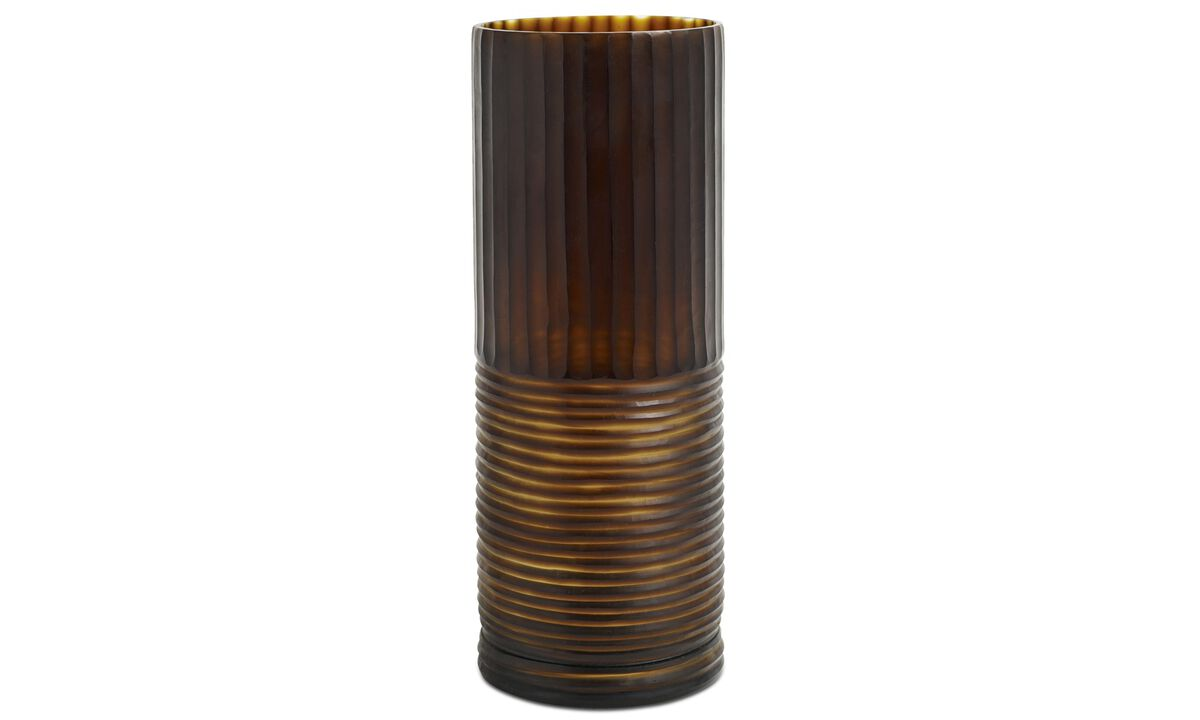 Nye designs - Cylinder vase - Brunt - Glass