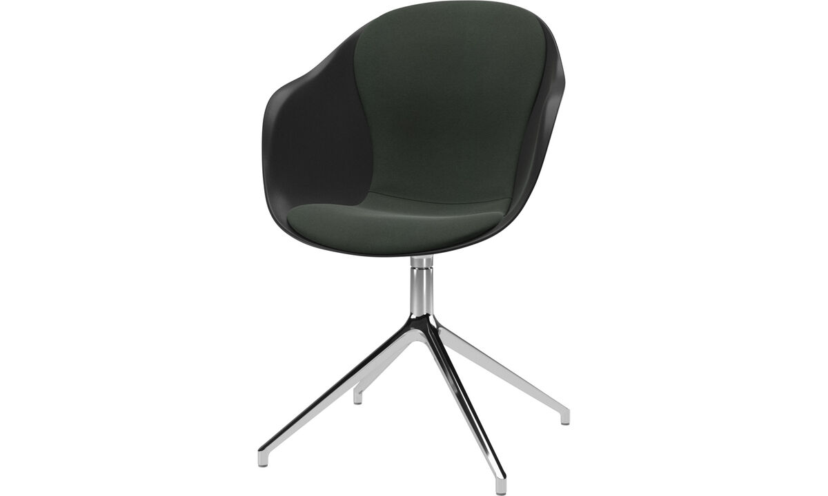 Dining Chairs Singapore - Adelaide chair with swivel function - Green - Fabric