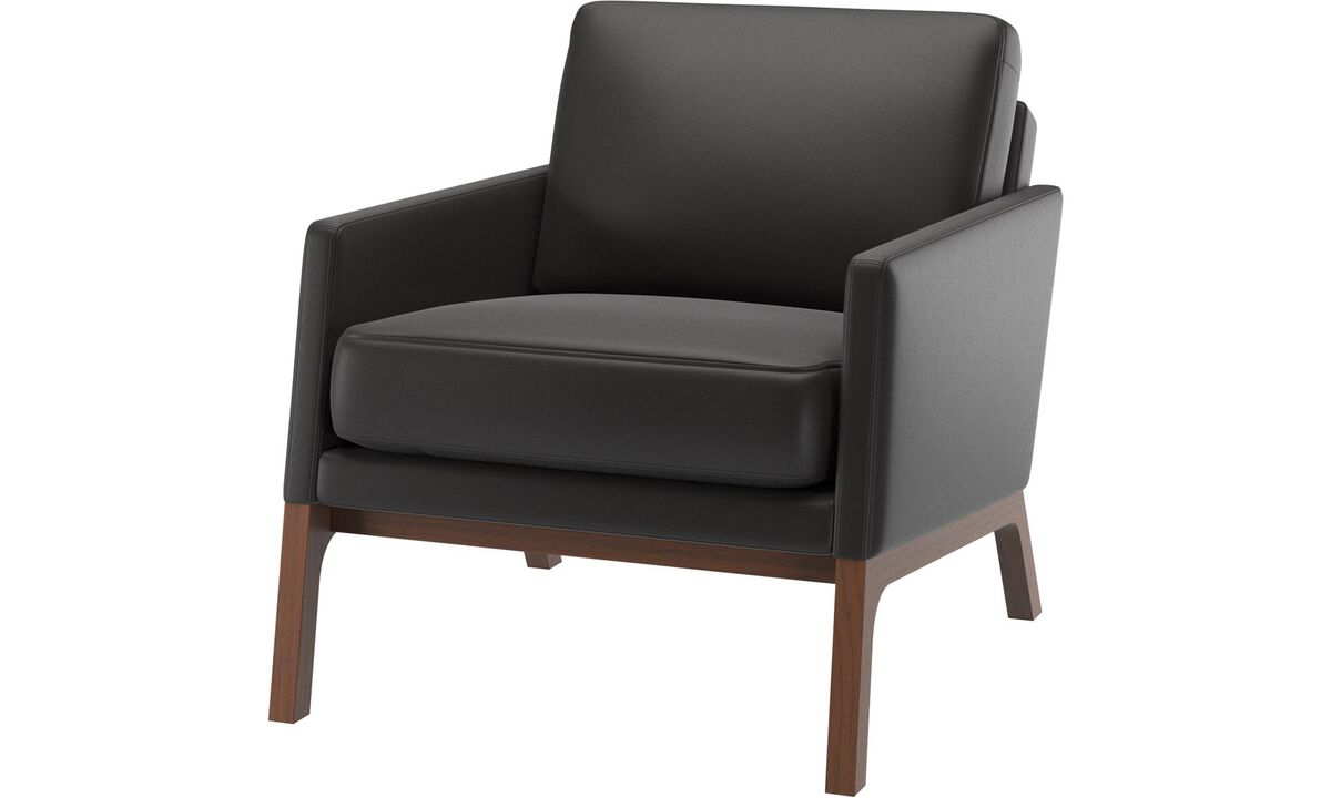 Armchairs - Monte chair - Black - Leather