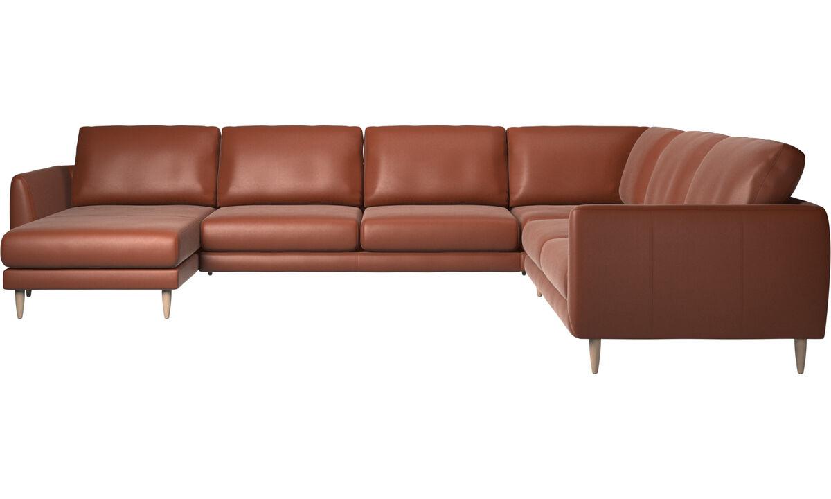 Corner sofas - Fargo corner sofa - Brown - Leather