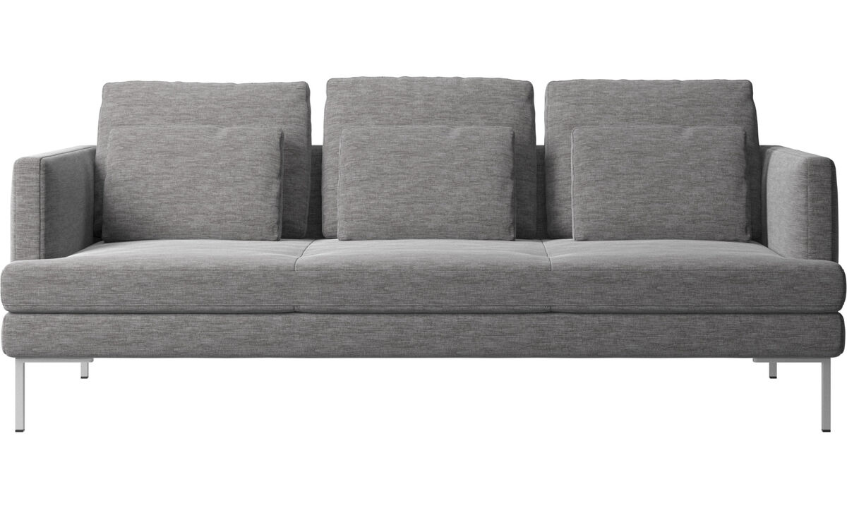 3 seater sofas - Istra 2 sofa - Grey - Fabric
