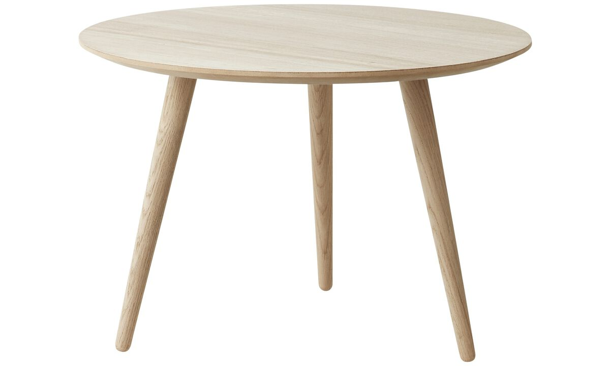 床头柜 - Bornholm 咖啡桌 - 圆形 - 褐色 - 橡木
