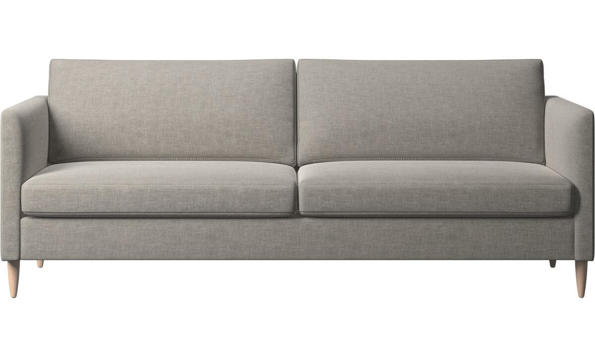 Трехместные диваны - Диван Indivi - Серого цвета - Tкань
