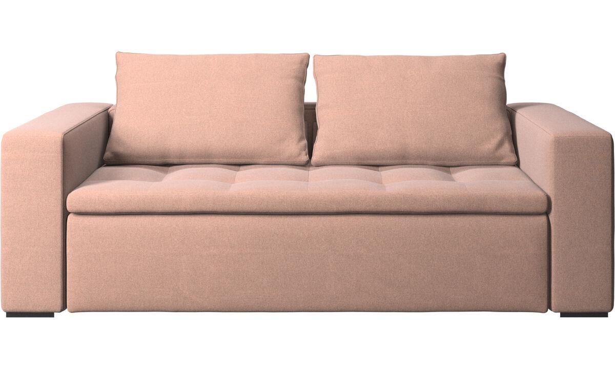 2.5 seater sofas - Mezzo sofa - Red - Fabric