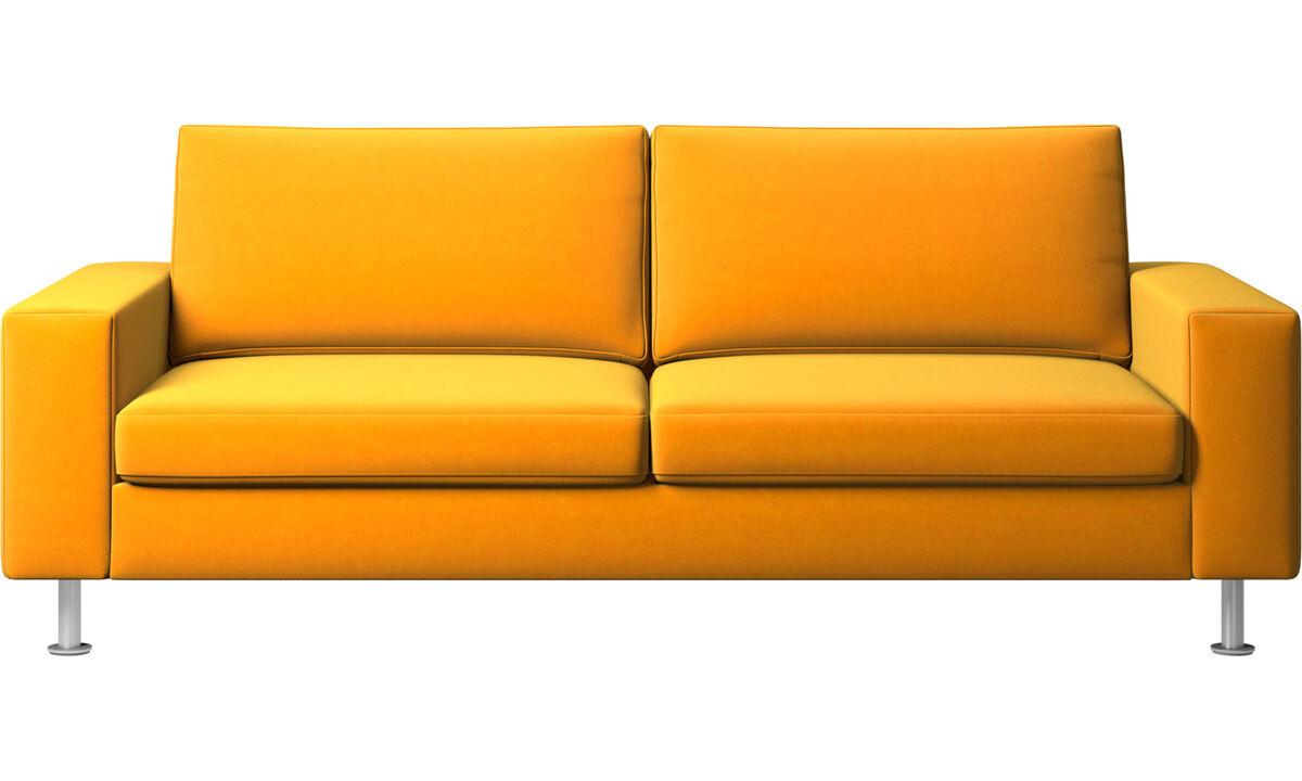 Sofás cama - sofá-cama Indivi - Laranja - Tecido