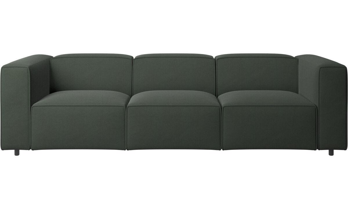 Sofás de 3 plazas - sofá Carmo - En verde - Tela